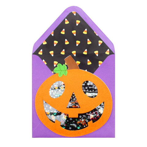 Candy Corn Filled Jack-O-Lantern: PAPYRUS Greeting Card