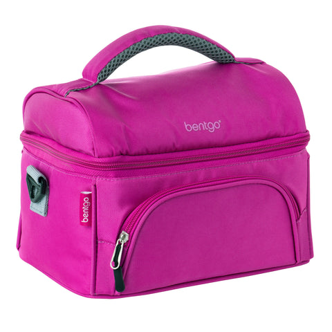 Bentgo Deluxe Insulated 2-Compartment Lunch Tote - Purple