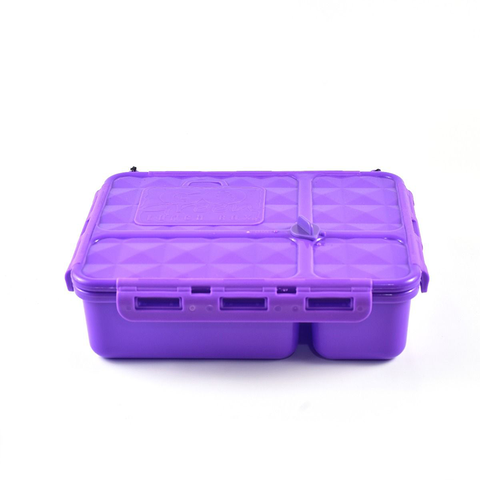 Go Green 4-Compartment Leakproof Break Box: PURPLE