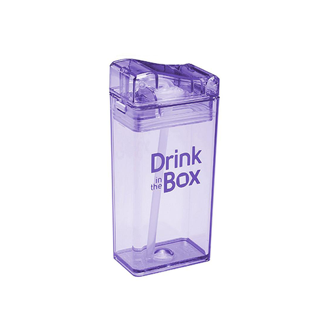 Drink-in-the-Box 8oz Reusable Drink Box: Purple