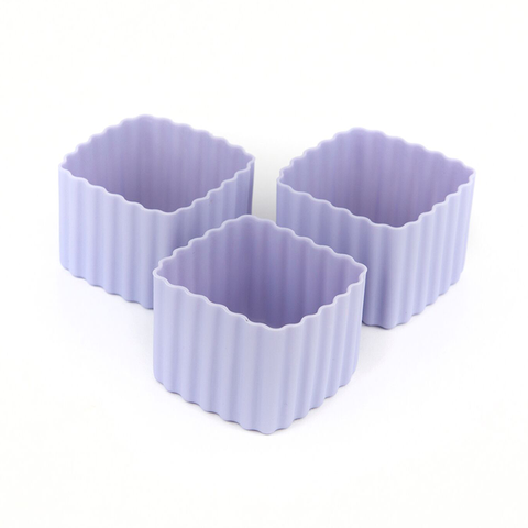 LLBC Square Bento Cups - Purple (Set of 3)