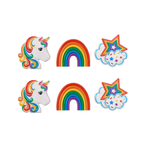 Rainbow Unicorn (Rings, 6Pk)