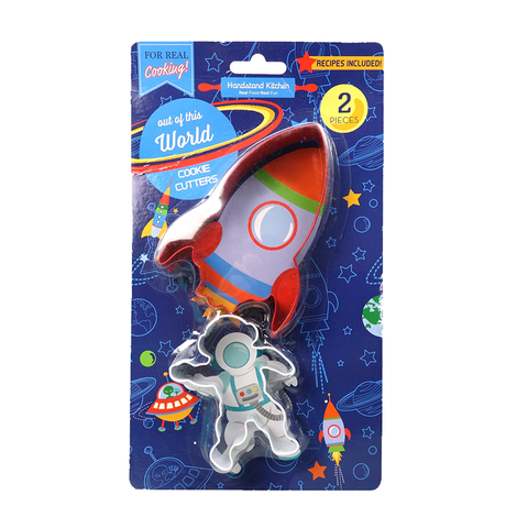 Handstand Kitchen Space/Rocket Cookie Cutters (2 Pieces)