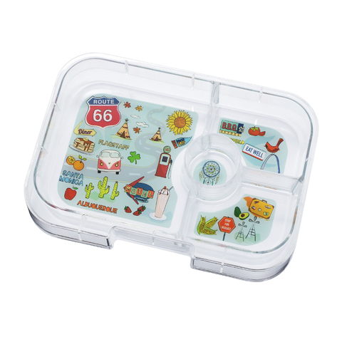 Yumbox Extra Tray: 4 Compartments, Route66 theme