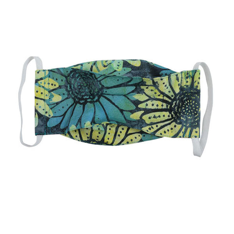 Snug as a Bug 100% Cotton Face Mask: Teal Flower (Age 12+ / Adult)
