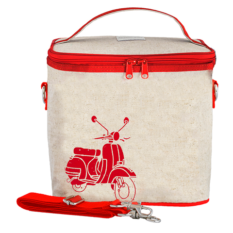 SoYoung Large Cooler Bags: Red Vespa Scooter
