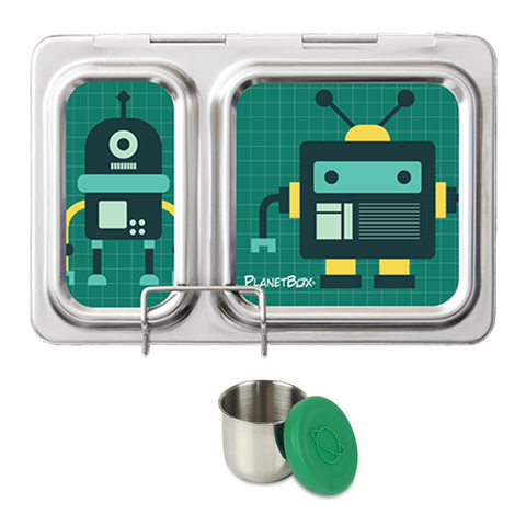 PlanetBox Shuttle with One Sililid Tall Dipper & Free Robo Friends Magnets