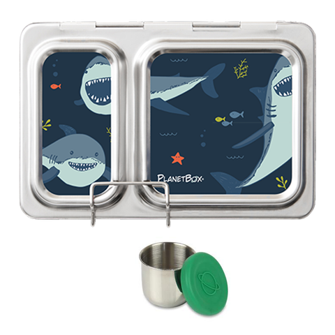 PlanetBox Shuttle with One Sililid Tall Dipper & Free Sharks Magnets