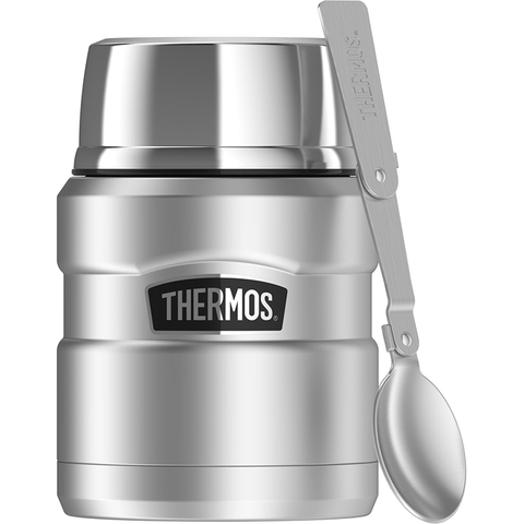 Thermos SS King 16 Oz Food Jar & Spoon - Silver