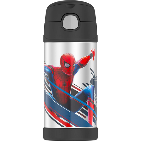 Thermos 12oz FUNtainer Straw Bottle: Spider Man Movie