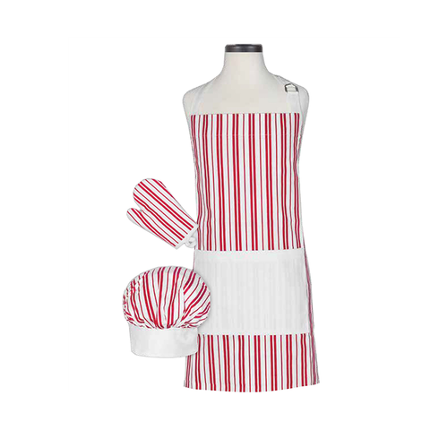 Handstand Kitchen Deluxe Baking Outfit for Children (Boxed Set): Classic Striped