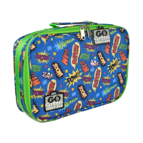 Go Green Insulated Carrying Case: Superhero Comic