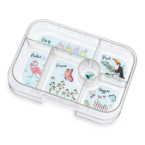 Yumbox Extra Tray: 6 Compartments, Paradise theme
