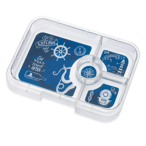 Yumbox Tapas - Extra 4-Compartment Tray, Explore Theme