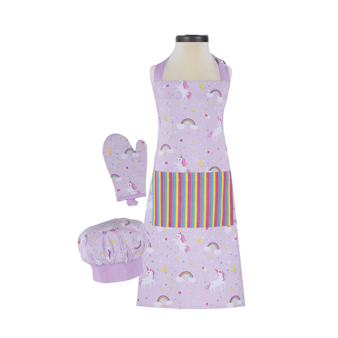 Handstand Kitchen Deluxe Baking Outfit for Children (Boxed Set): Rainbows and Unicorns