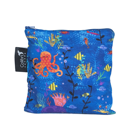 Colibri Large Reusable Snack Bag - Under the Sea
