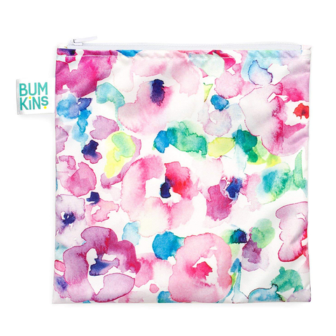 Bumkins Large Reusable Snack Bag: Watercolor