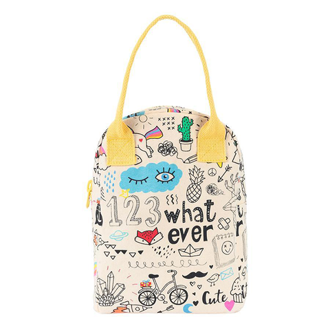 Fluf WHATEVER Zipper Lunch Bag
