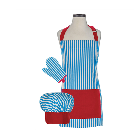 Handstand Kitchen Deluxe Baking Outfit for Children (Boxed Set): Whimsy Striped