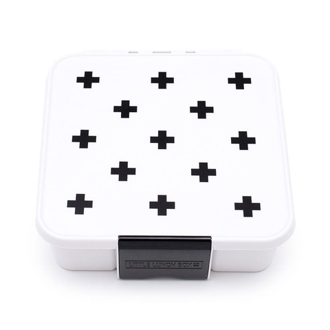 Little Lunch Box Co. Bento Five: White with Black Cross