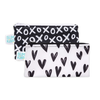 Bumkins Small Reusable Snack Bags (2 pack): XOXO & Hearts