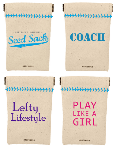 Softball Wheelhouse Collection Seed Sack Starter Kit (Includes 6 Refills)