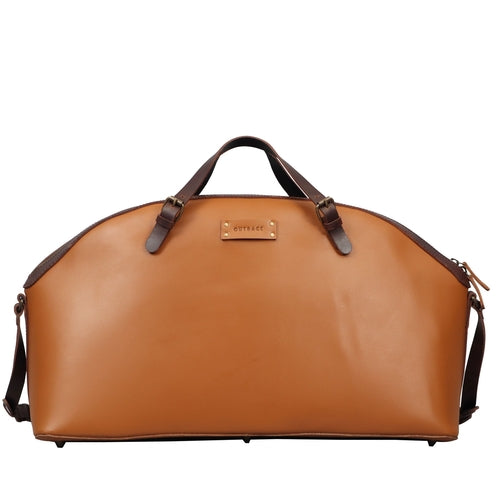Tan Leather travel bag