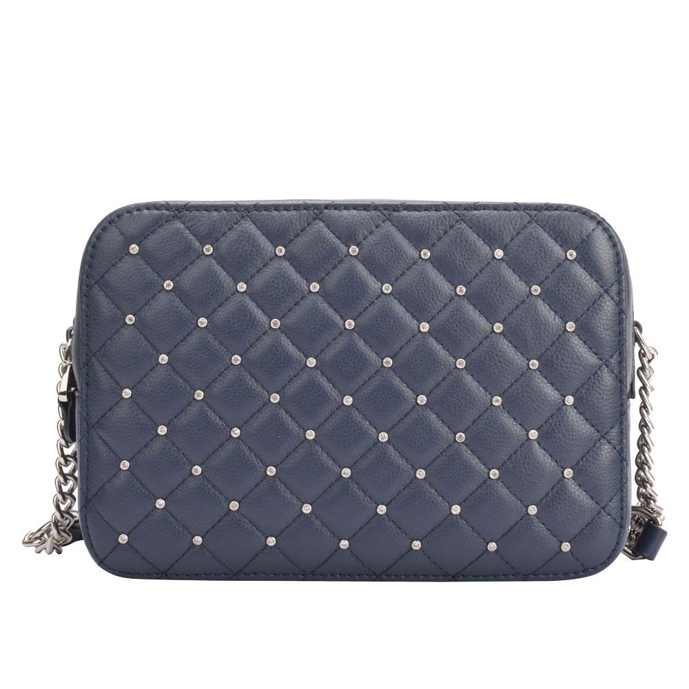 Navy quilted purse