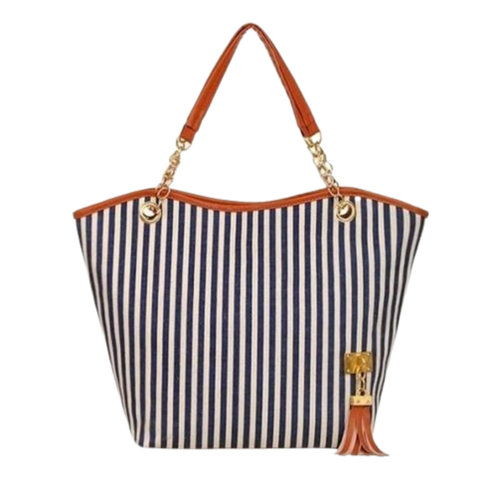 Navy Stripe Handbag