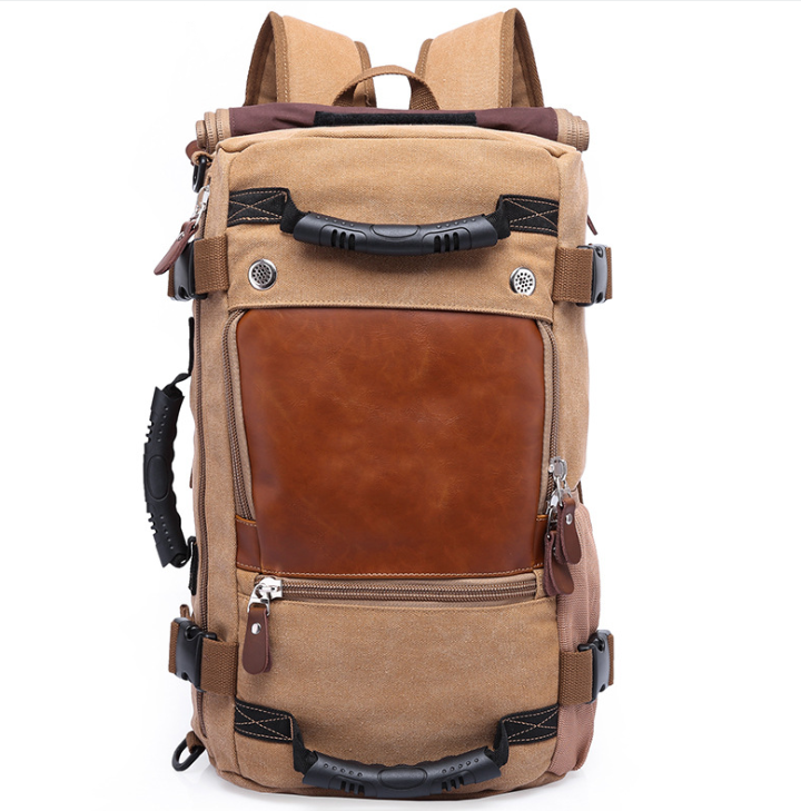 Brown Canvas Camping Backpack