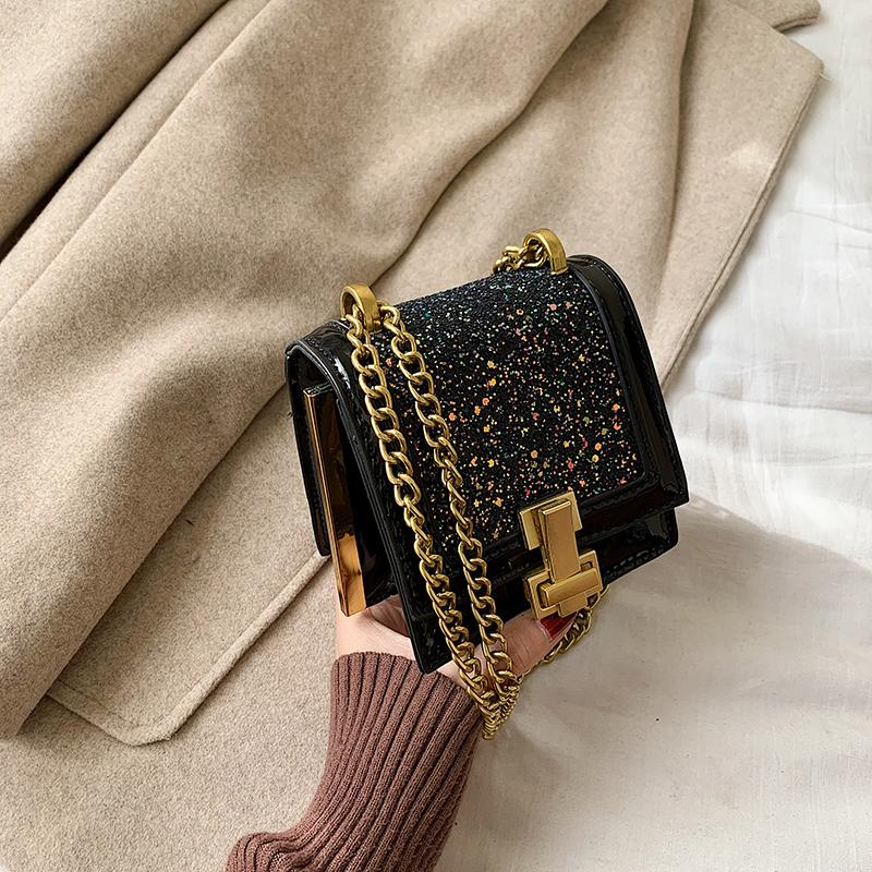 Black and Gold Chain Purse