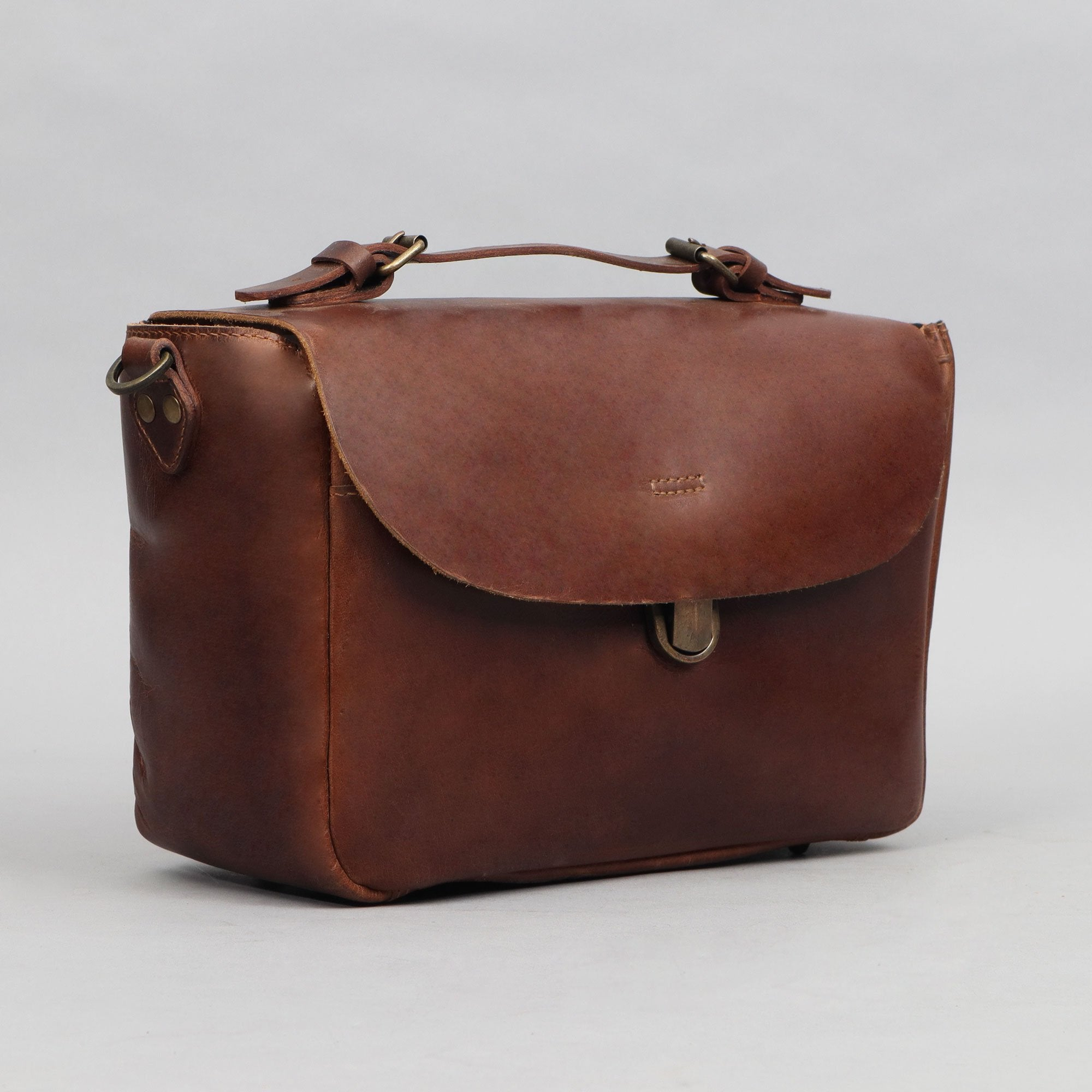 Brown Leather Camera Bag
