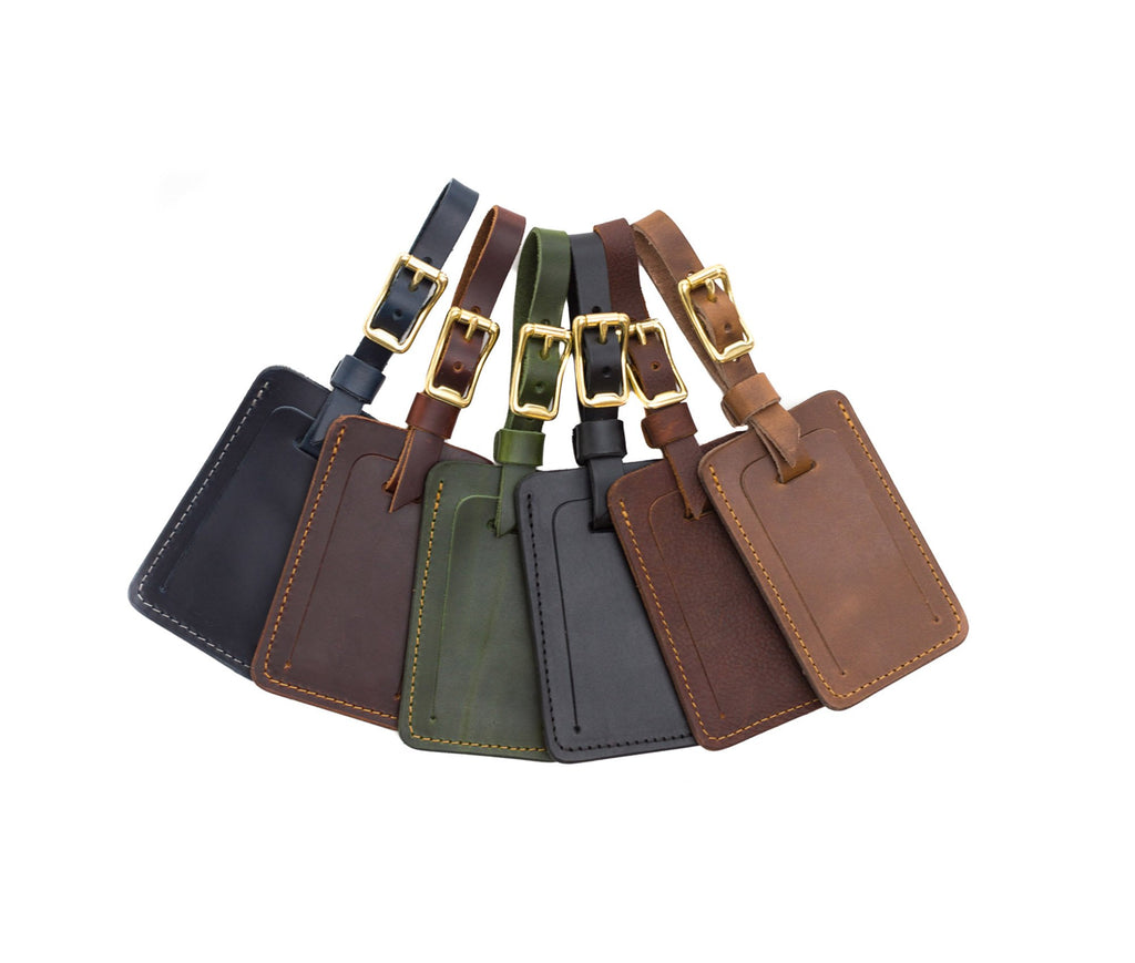 Multi colors Leather Luggage Tags