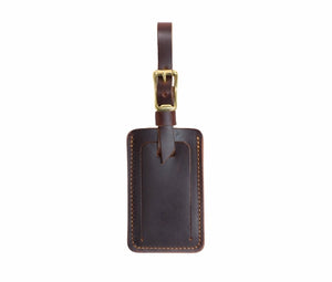Brown Leather Luggage Tags