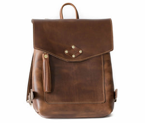 Oxford Natural Ladies Leather Backpack