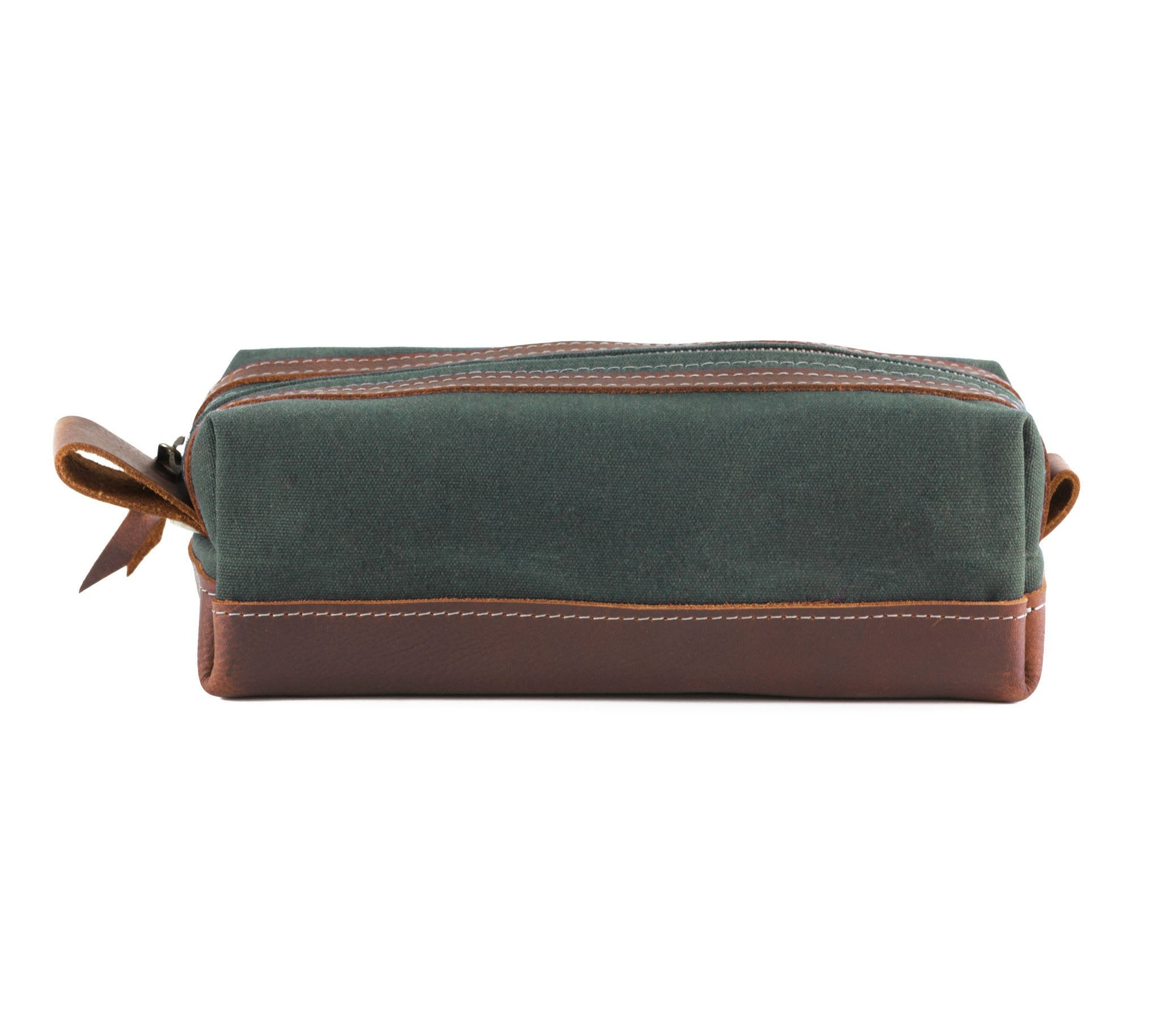 Green Waxed Canvas Toiletry Bag