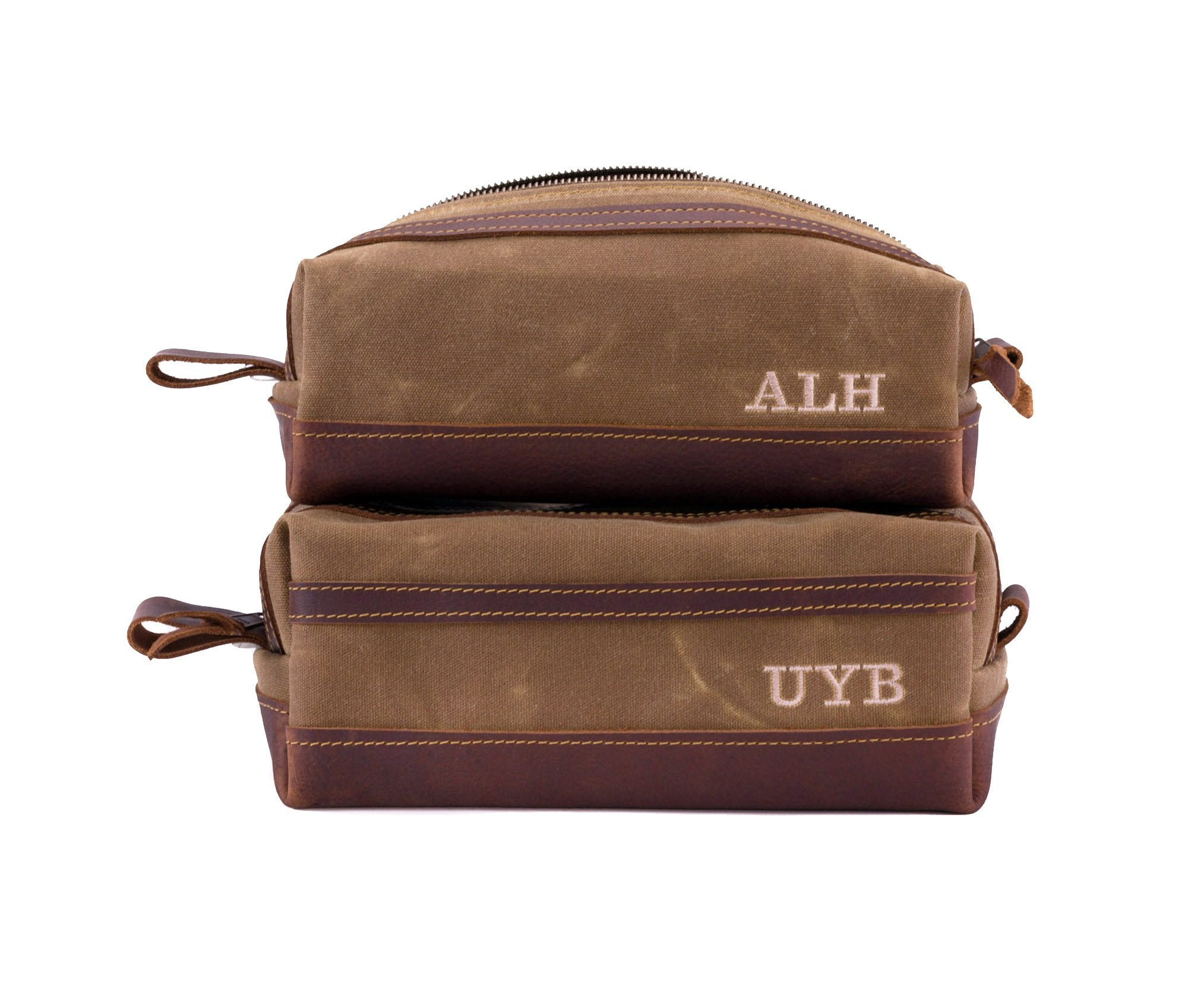Waxed Canvas Toiletry Bag size comparison