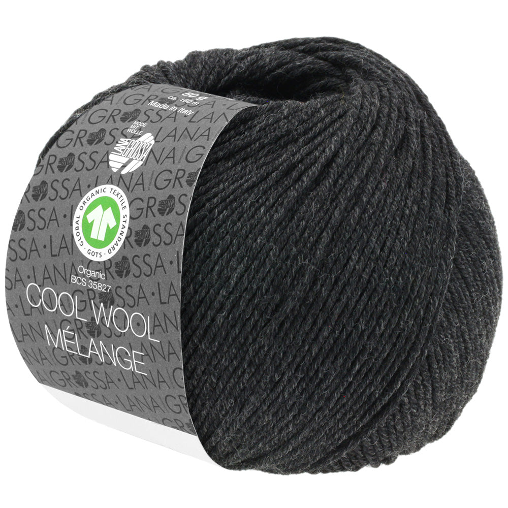Cool Wool Melange GOTS 120 Anthrazit meliert