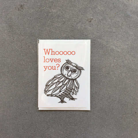 Whooo Loves You? Greeting Card