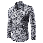Winter Printed Dress Shirt