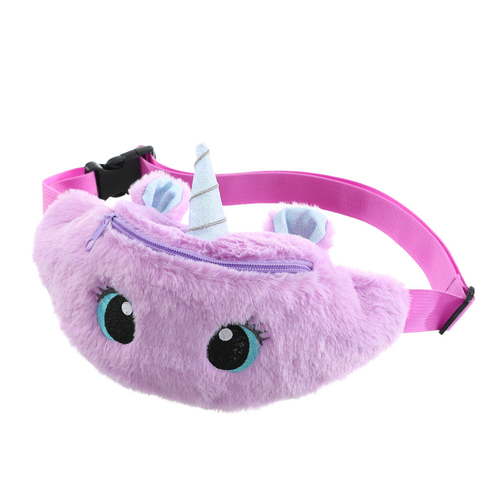 Cute Unicorn Children's Waist Bag with Adjustable Belt