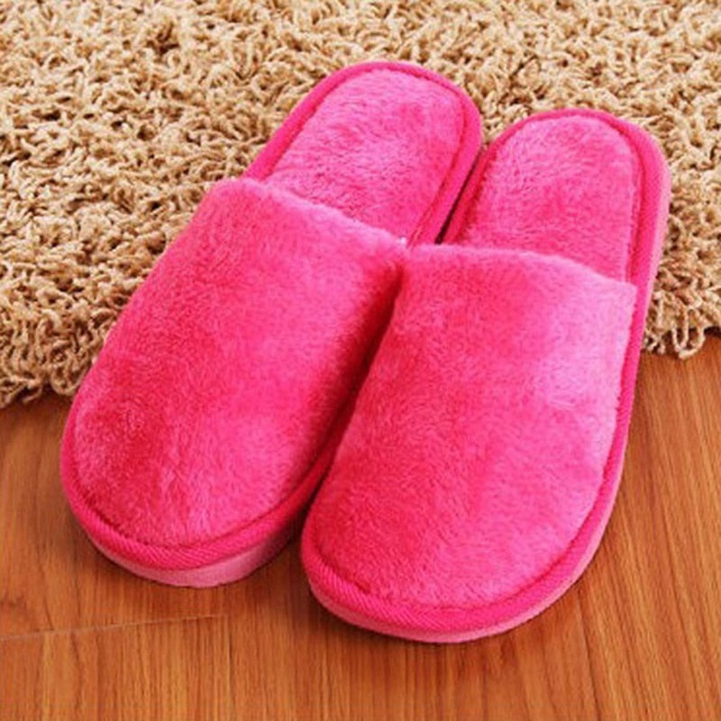 Unisex Plush Faux Fur Home Slippers Indoor Shoes For Bedroom Floor Cotton Soft  Slippers With Soft Non-Slip Bottom Zapotas