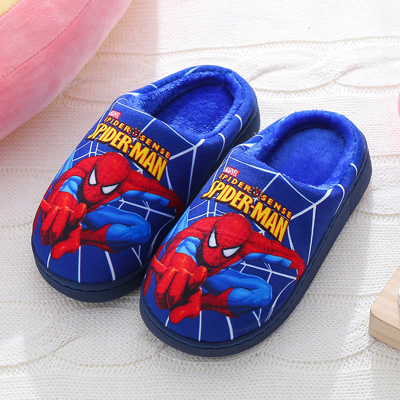 VFOCHI New Boy Girl Winter Slipper Velvet Warm Flat Shoes for Kids Cartoon Girl Casual Slip-on Shoes Children Girl Boy Slipper