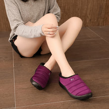 Load image into Gallery viewer, Big Size 35-43 Women Cotton Slippers Winter Warm Home Shoes Woman Waterproof Comfortable Thick Plush Footwear Slip on Loafers