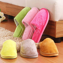 Load image into Gallery viewer, Puimentiua Winter Indoor Women Slippers House Plush Soft Cotton Slippers Non-slip Floor Shoes Home Slippers Women Slides