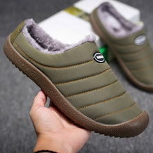 Load image into Gallery viewer, UncleJerry Men Winter Slippers Women Warm Indoor Shoes Waterproof Non-slip Home Slippers Big size