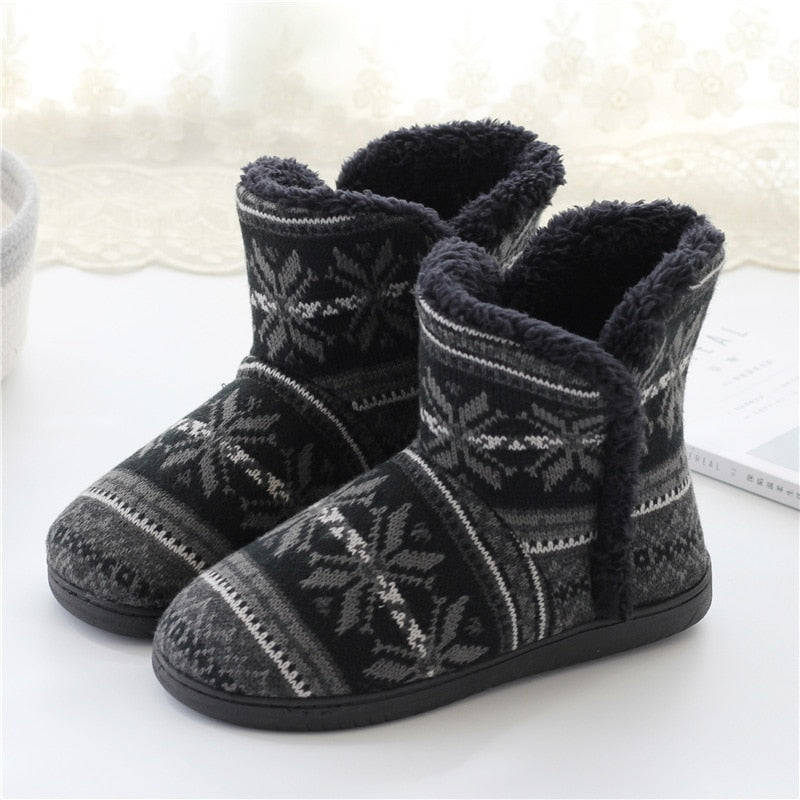 Winter Warm Home Slipper Men and Women Family Cotton Shoes  Male Platform House Slides Ladies Casual Indoor Slippers For Bedroom