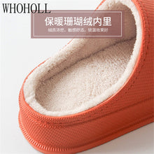 Load image into Gallery viewer, Winter Waterproof Homen Slippers Man Women Couples Non-slip Cotton Slippers Women's Indoor And Outdoor Wear Inside Plush Slipper