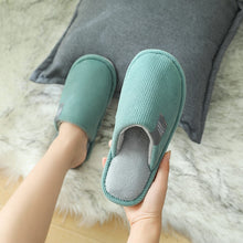 Load image into Gallery viewer, 2020 Men's SLipper Solid Color Autumn And Winter Home Slipper For Men Warm Indoor Beadroom Slides Man Stripe Cotton Slippers