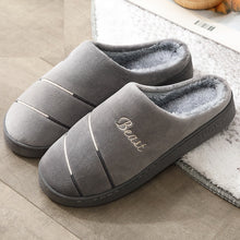 Load image into Gallery viewer, Male cotton slippers, winter, indoor home, home new couple simple slippers
